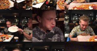 Pizza-ätar-tävling på Leffes! Horny Hjalmar vs Blowjob Joel (duoblås). Stort gra…