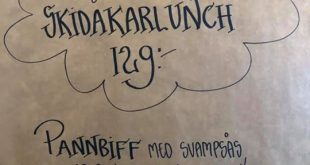 Välkomna in på fredagslunch! Lunch 11.00 – 15.00 Afterski 15.30 – 16.30 Middag 1…
